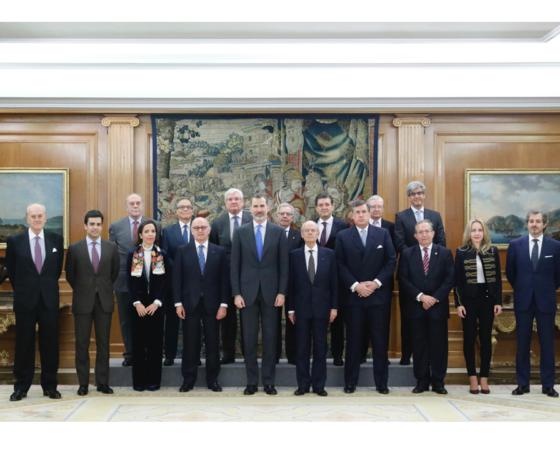 El Rey recibe a la Junta Delegada de Gobierno de la Fundación Independiente