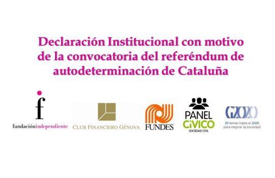 Declaración Institucional