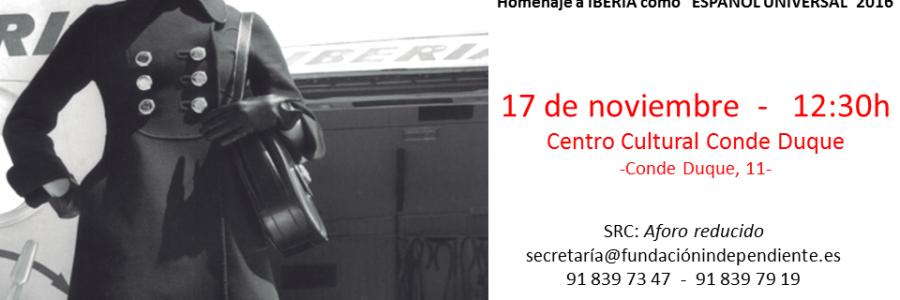 """Presentación Libro IBERIA """"Español Universal"""" 2016"""