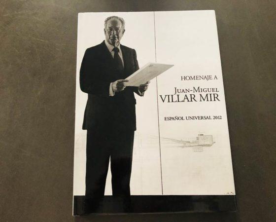 "LIBRO HOMENAJE JUAN-MIGUEL VILLARMIR ""ESPAÑOL UNIVERSAL"" 2012"