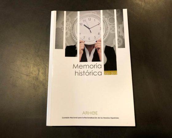 """LIBRO """"MEMORIA HISTÓRICA"""" 2001-2015 Comisión Nacional para la Racionalización de los Horarios Españoles"""