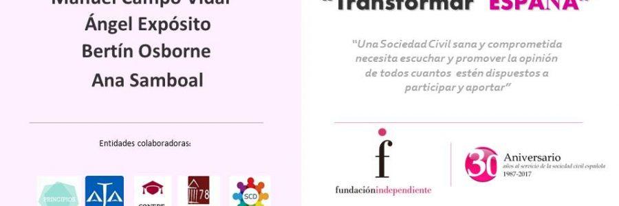 """Transformar España"" Tribuna Abierta"