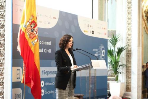 I Congreso Nacional de la Sociedad Civil - 2ª Jornada - Intervención de la Excma. Sra. Presidenta de la Comunidad de Madrid