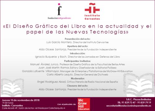 INVITACIÓN «EL DISEÑO GRAFICO DEL LIBRO EN LA ACTUALIDAD»