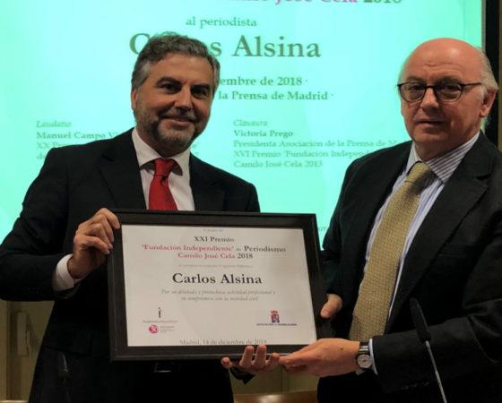 Carlos Alsina XXI «Premio `Fundación Independiente´ de Periodismo Camilo José Cela»
